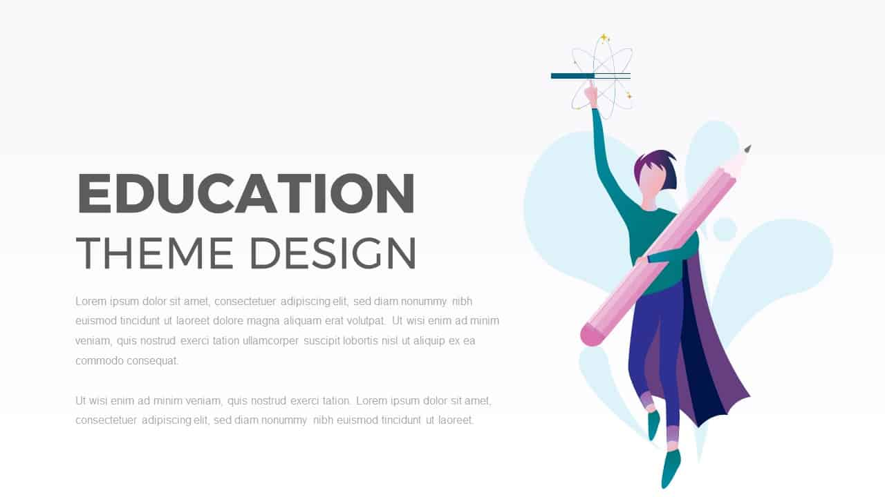 Education PowerPoint Template Theme Design