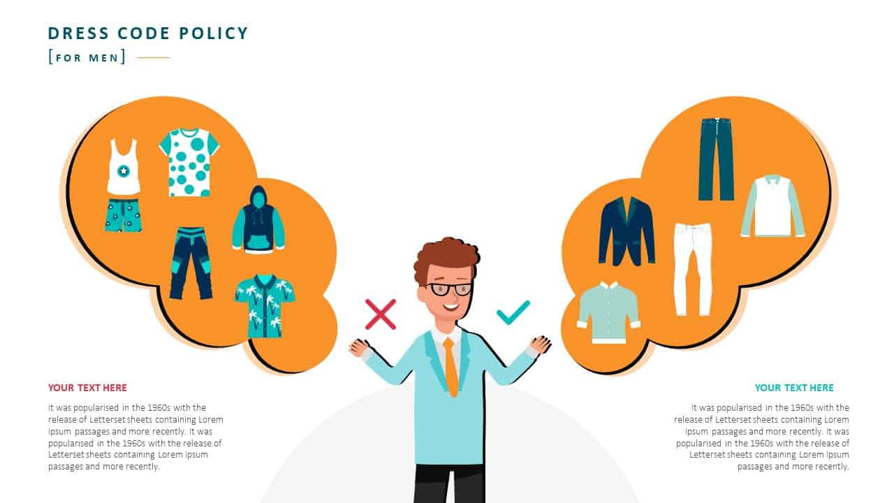 Employee Handbook PowerPoint Template Slide 12 Dress Code Policy