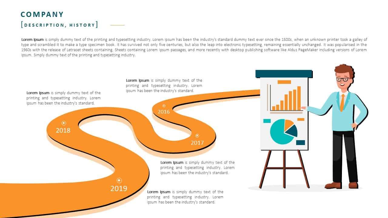 Employee Handbook PowerPoint Template Slide 3 Company History