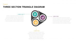 3 Section Triangle Diagram Template for PowerPoint