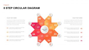 8 Step Circular Diagram Template for PowerPoint