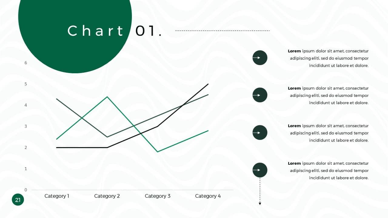 Business Presentation PowerPoint Template Chart