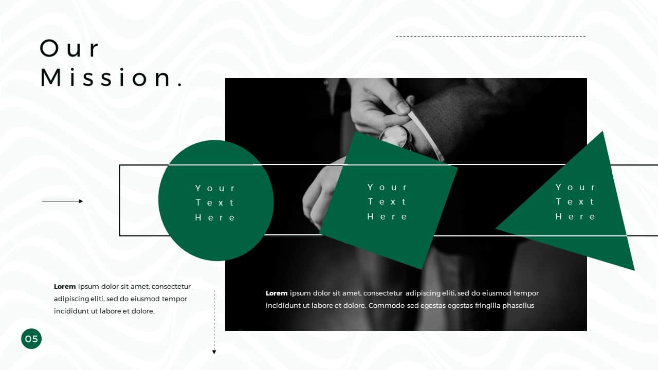 Business Presentation PowerPoint Template Our Mission