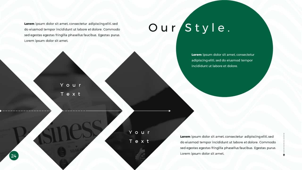 Business Presentation PowerPoint Template Our Style