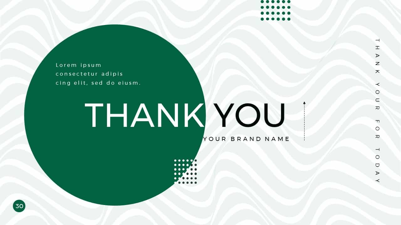 Business Presentation PowerPoint Template Thank You
