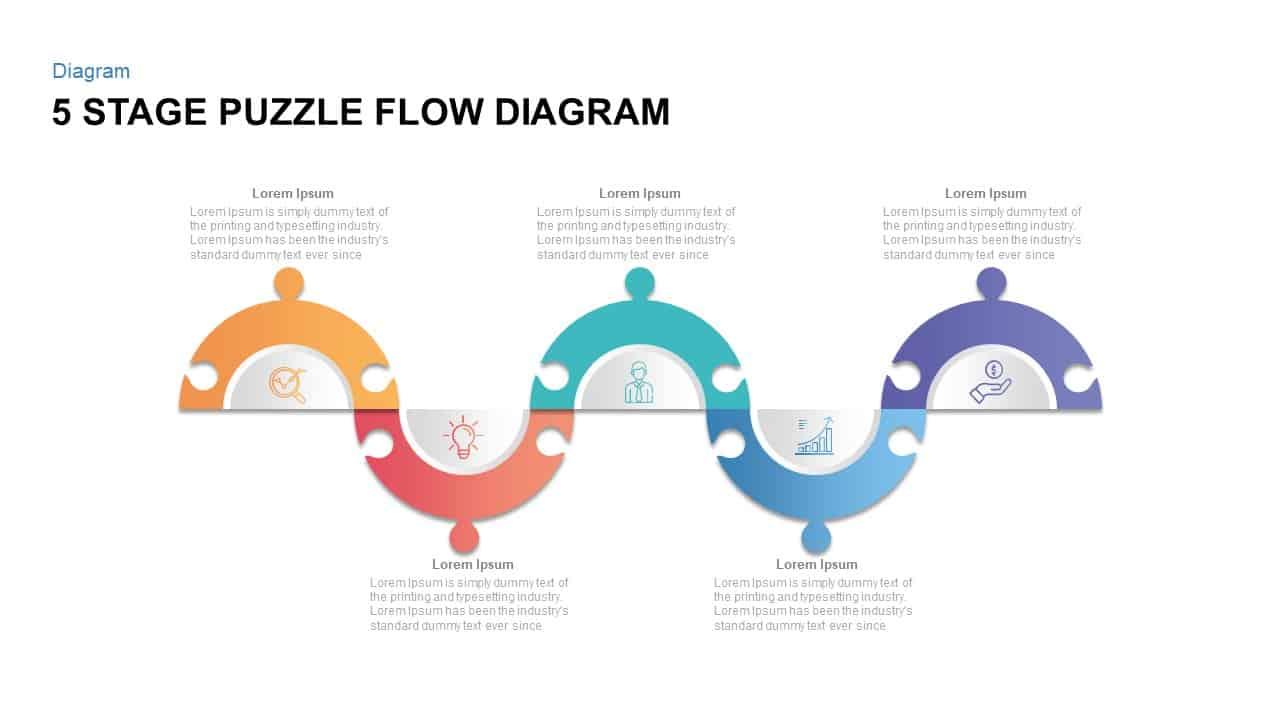 Puzzle Flow Diagram for PowerPoint