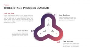 Three Step Process Diagram for PowerPoint Presentation