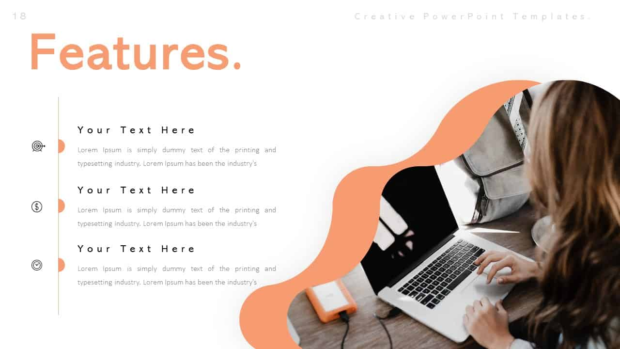 Creative Features PowerPoint Templates