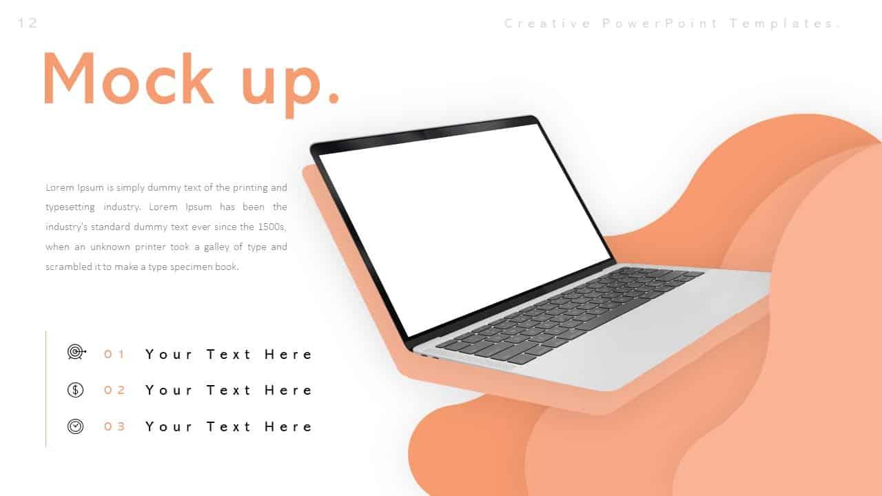 Creative Mockup Laptop PowerPoint Templates