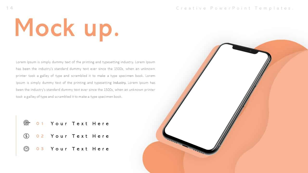Creative PowerPoint Mockup Templates for Smartphone