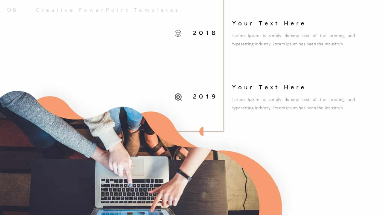 Creative PowerPoint Templates for Business Year