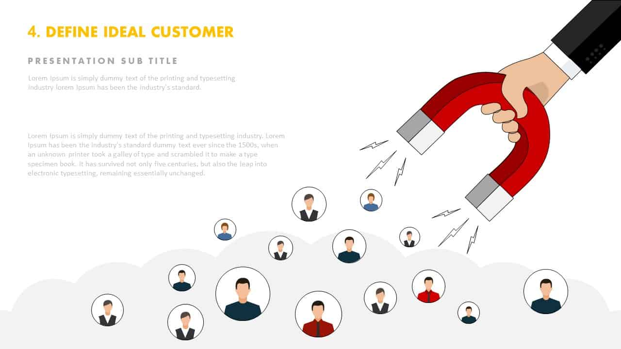 Defining your ideal customer template for PowerPoint