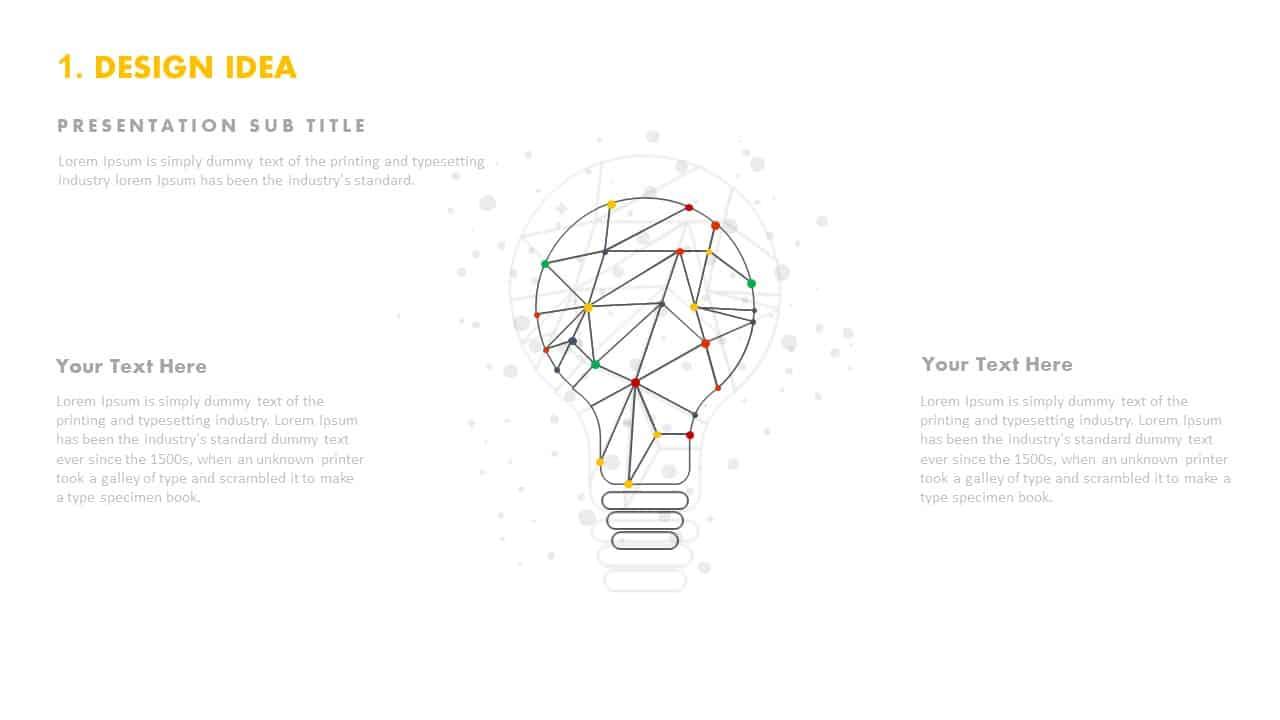 Design idea light bulb template PowerPoint