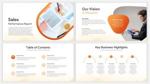 Sales Report Template for PowerPoint Presentations