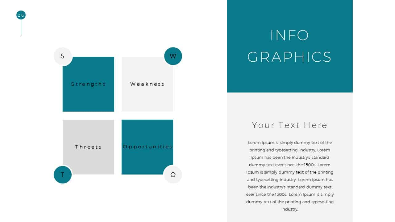 Simple Business Deck Infographic Templates for Presentation