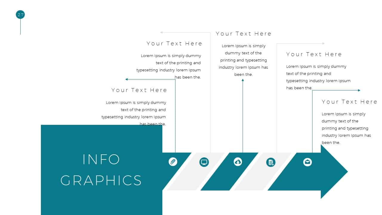 Simple Business Deck Infographics Templates for PowerPoint Presentation