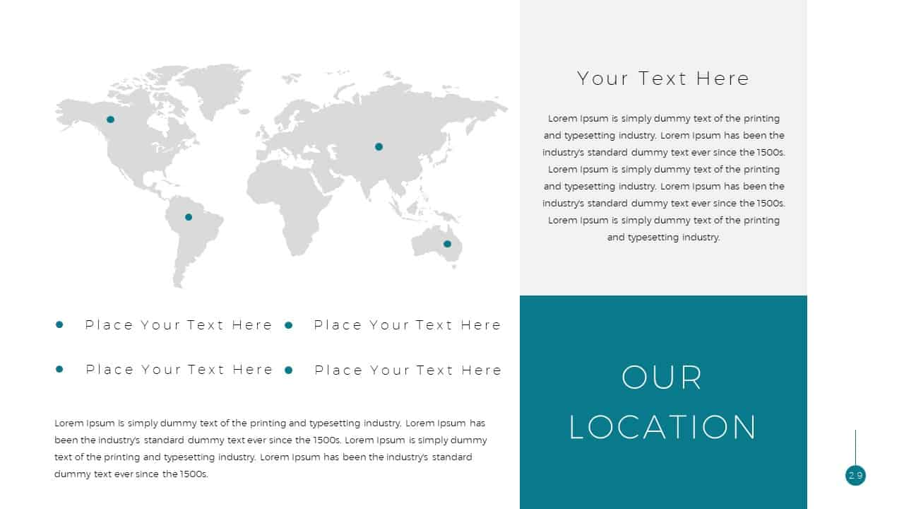 Simple Business Deck Location Map Templates for Presentation