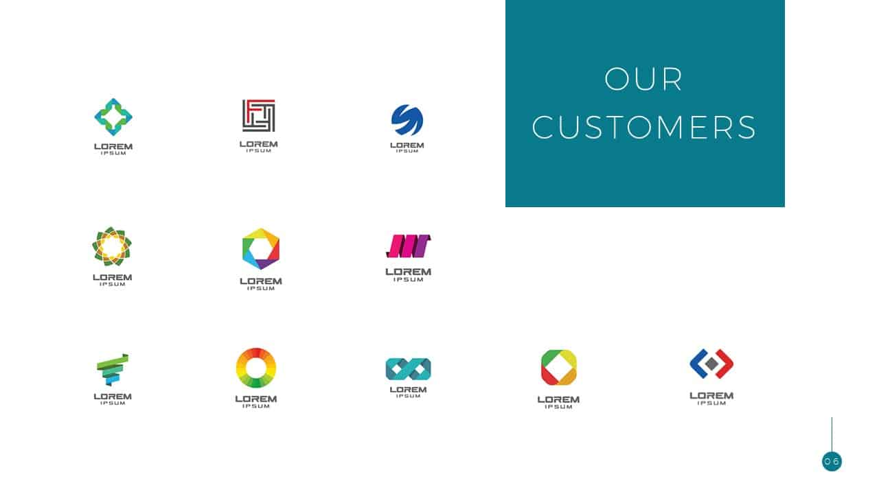 Simple Business Deck Templates Our Customers