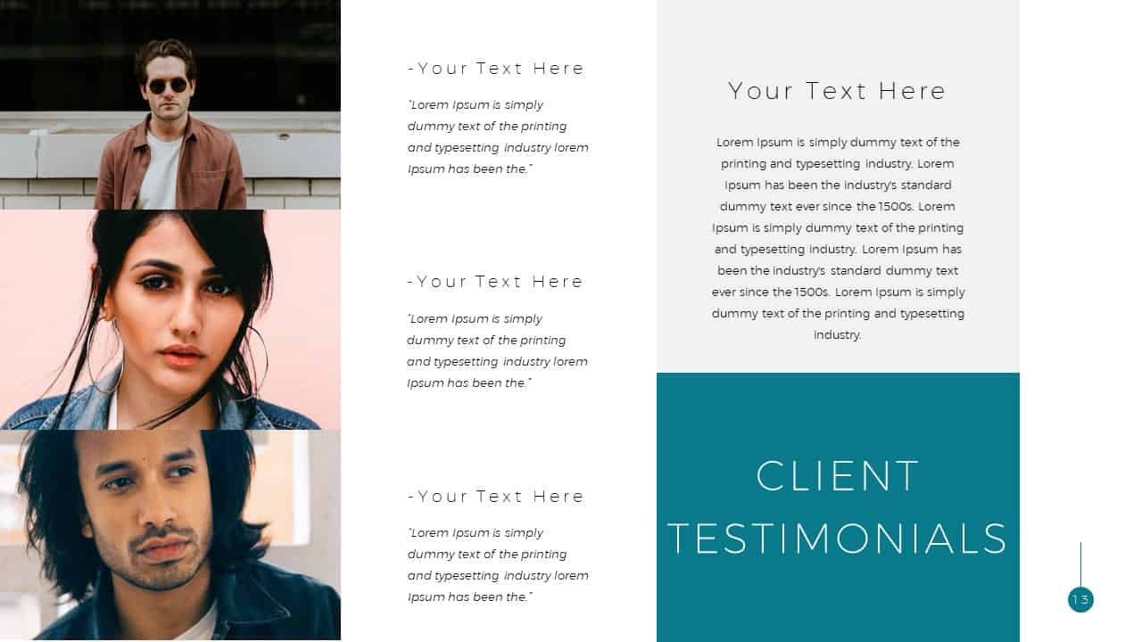 Simple Business Deck Testimonials Templates