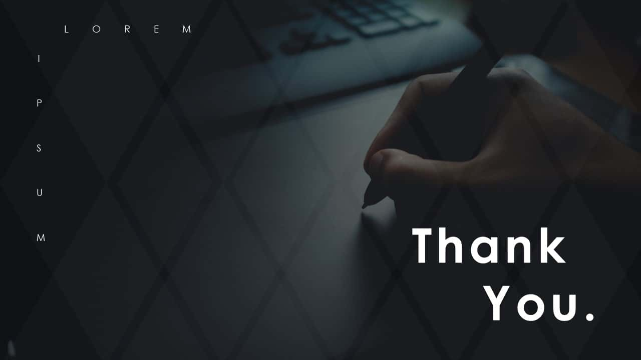 Business PowerPoint Presentation Template Thank You
