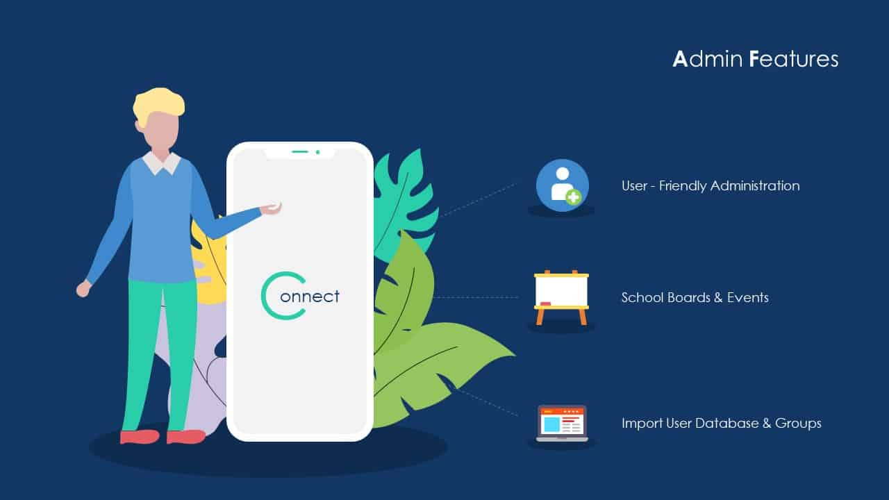School Communication App Deck Template