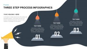 3 Step Process Infographic Template