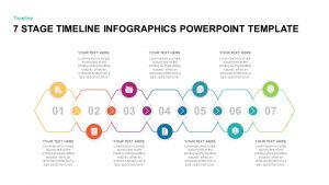 7 Stage Timeline Infographic Template for Presentation