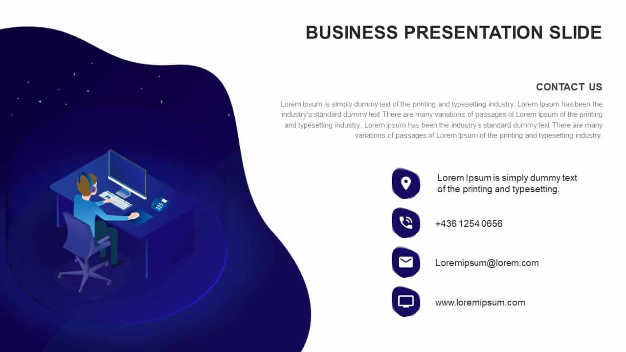 Business presentation ppt diagram