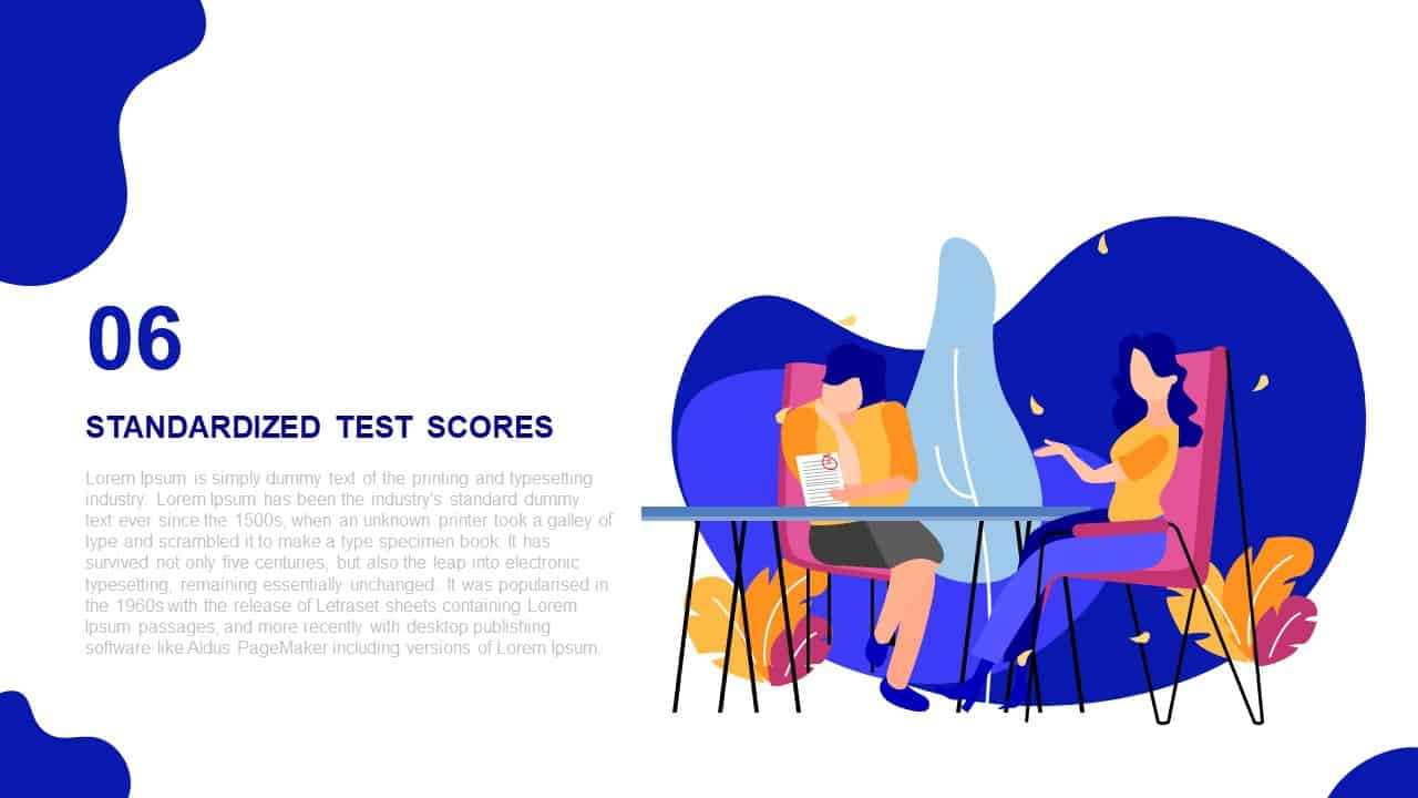 Scholarly Administration Deck Template Standardized Test Scores
