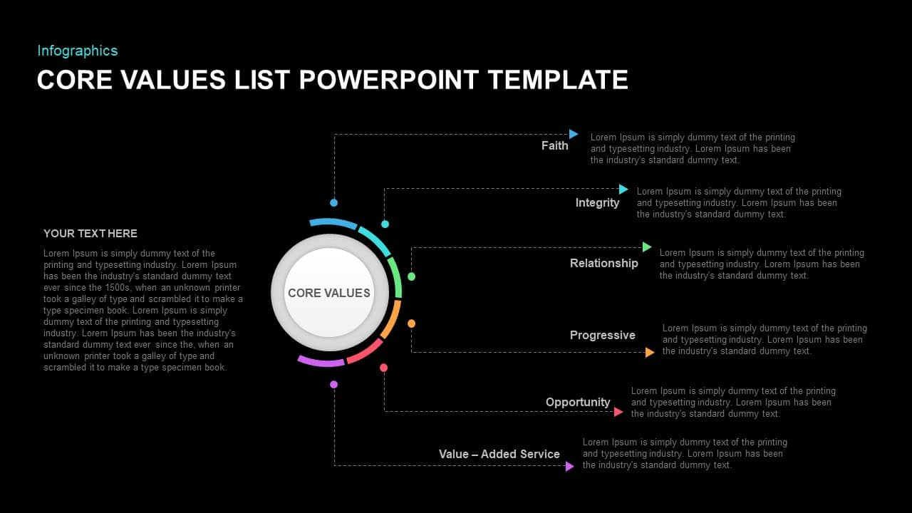 core values powerpoint template