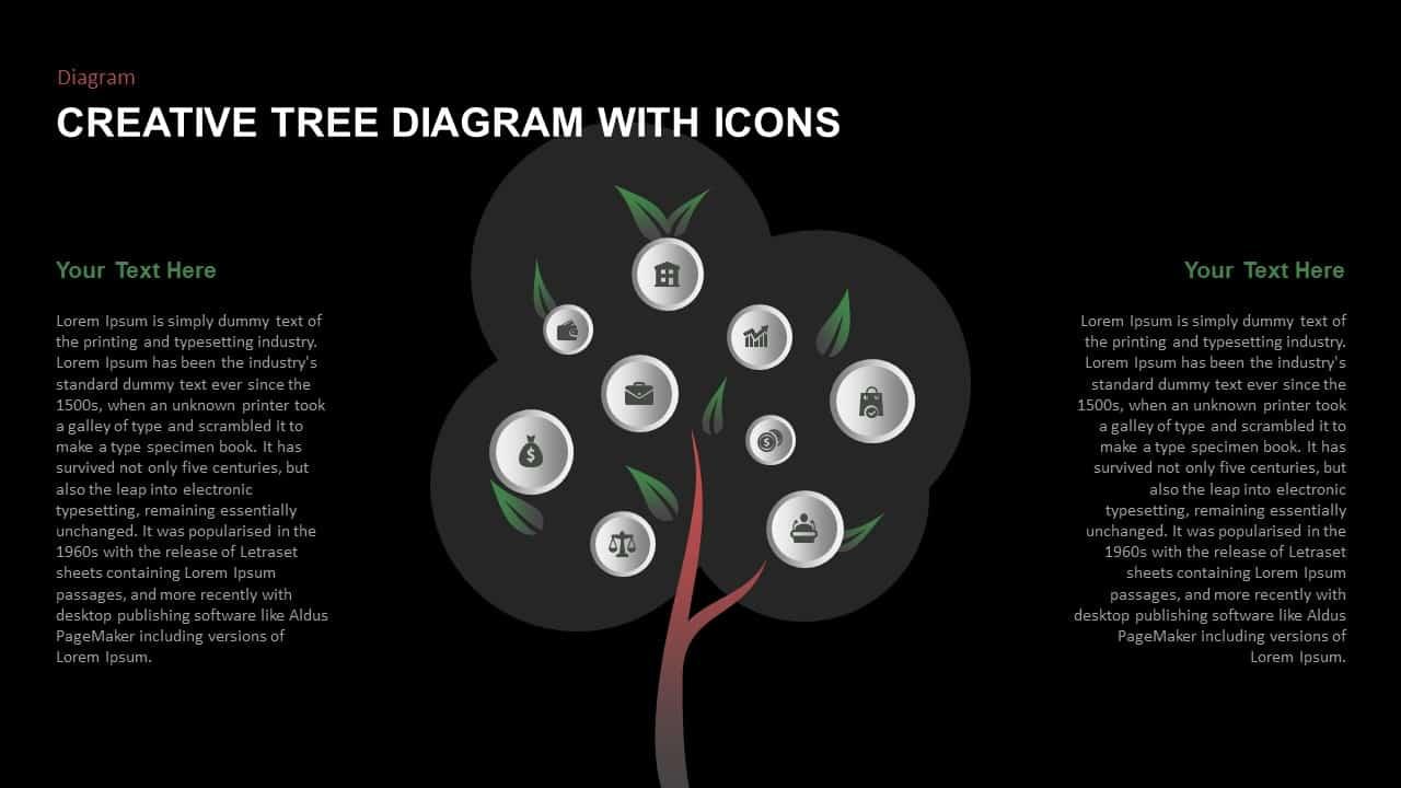 Creative Tree Diagram PowerPoint Template
