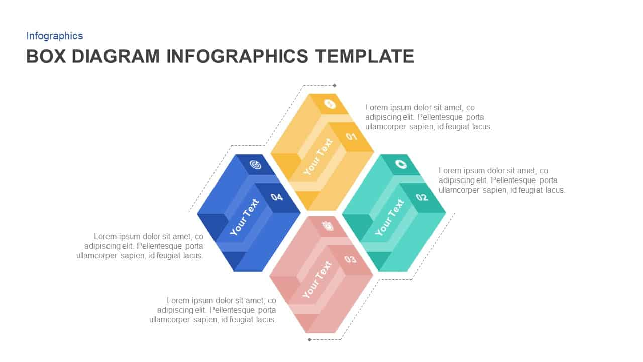 4 Box PowerPoint Template