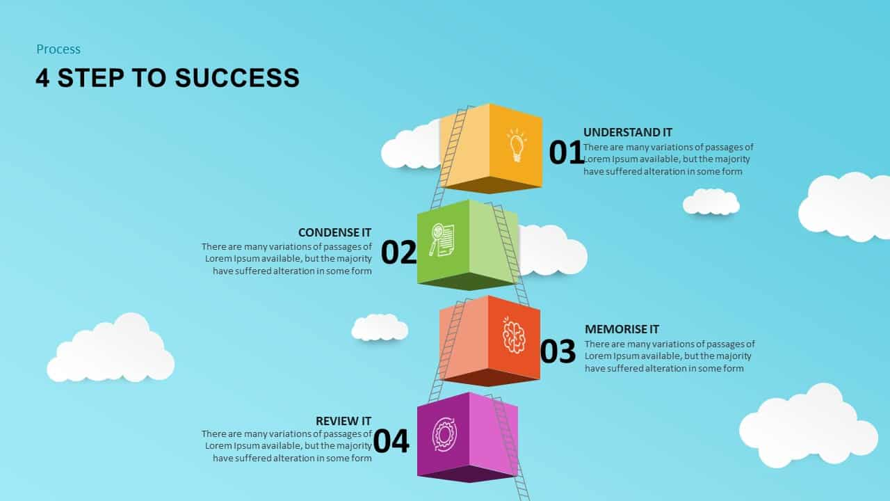 4 Steps to Success PowerPoint Template