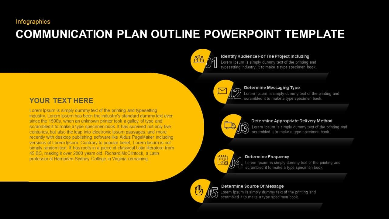 Communication Plan PowerPoint Template
