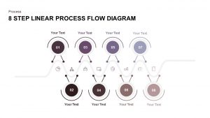 8 Step Linear Process Flow Diagram