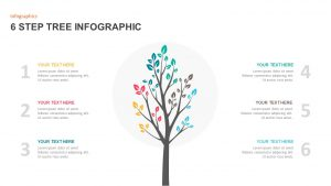 6 Steps Tree Diagram PowerPoint Template
