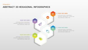 Abstract 3D Hexagonal Infographic Template